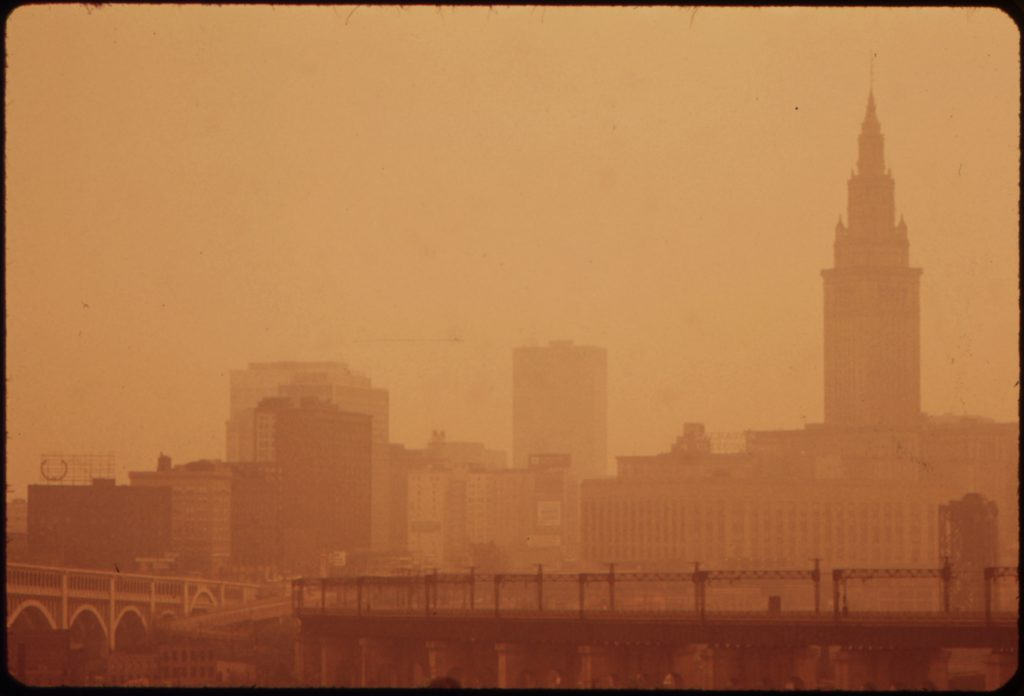 Government-mandated emissions laxity ensuring clear skies over Cleveland